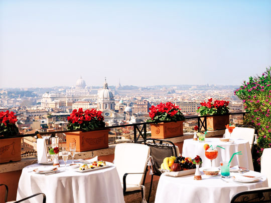 A Legendary Luxury Hotel At The Top Of The Spanish Steps In Rome